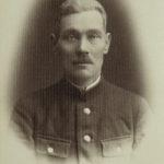 Виктор Матвеевич Романчук в форме железнодорожника Польских железных дорог п. Россь 1931 год
