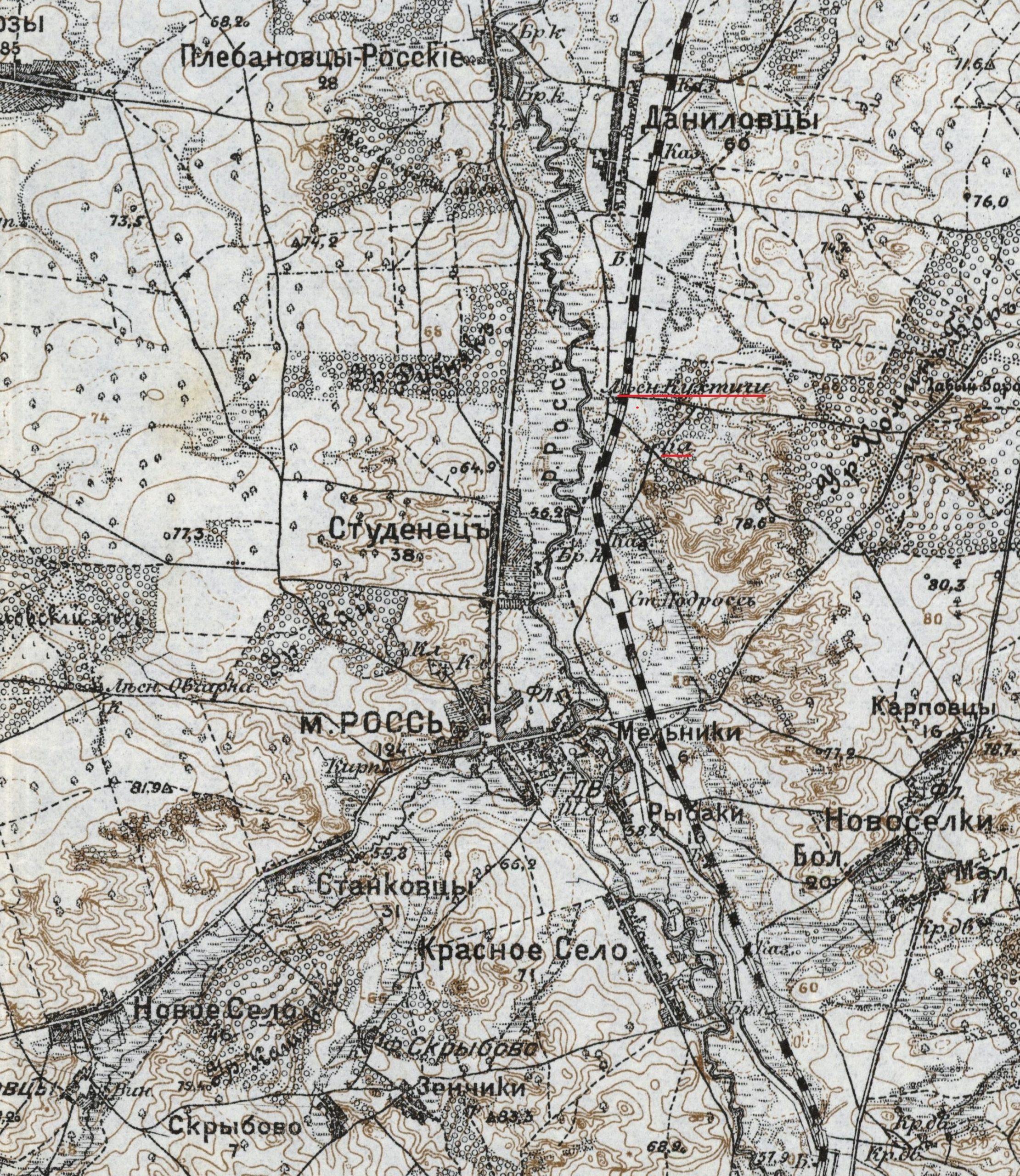 Карта Россь